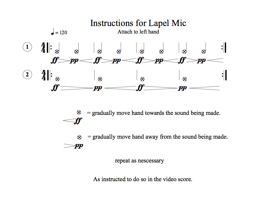 Lapel Mic instructions