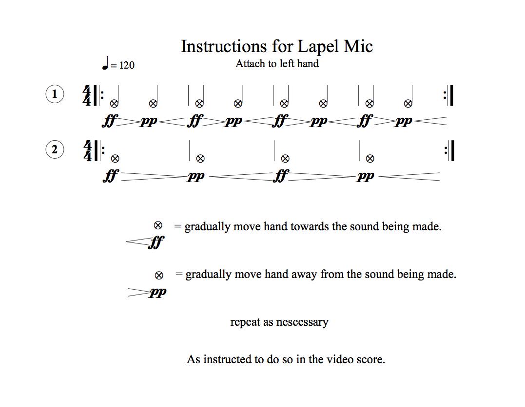Lapel Mic instructions